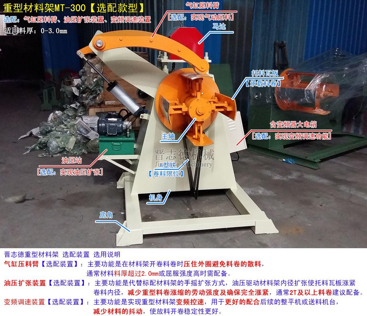 重型材料架选配气动压料臂